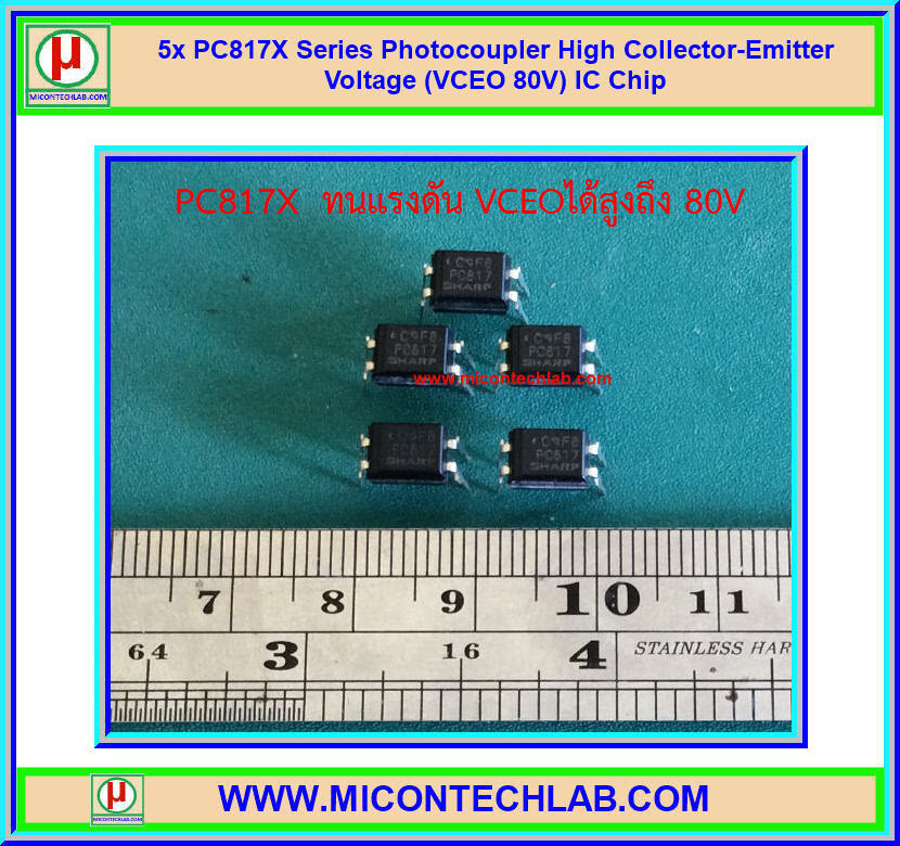 5x PC817X Series Photocoupler High Collector-Emitter Voltage (VCEO 80V) IC Chip