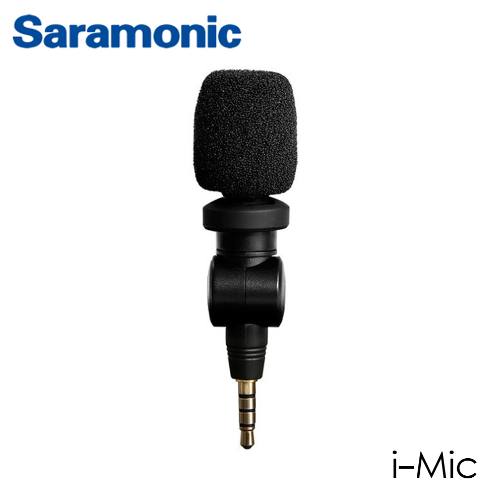 Saramonic i-Mic Professional TRRS Condenser Microphone for iPhone, iPad, iPod Touch & Mac
