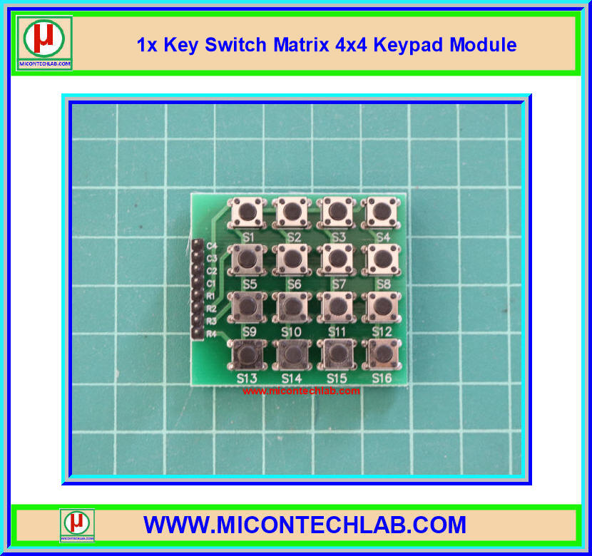 1x Key Switch Matrix 4x4 Keypad Module