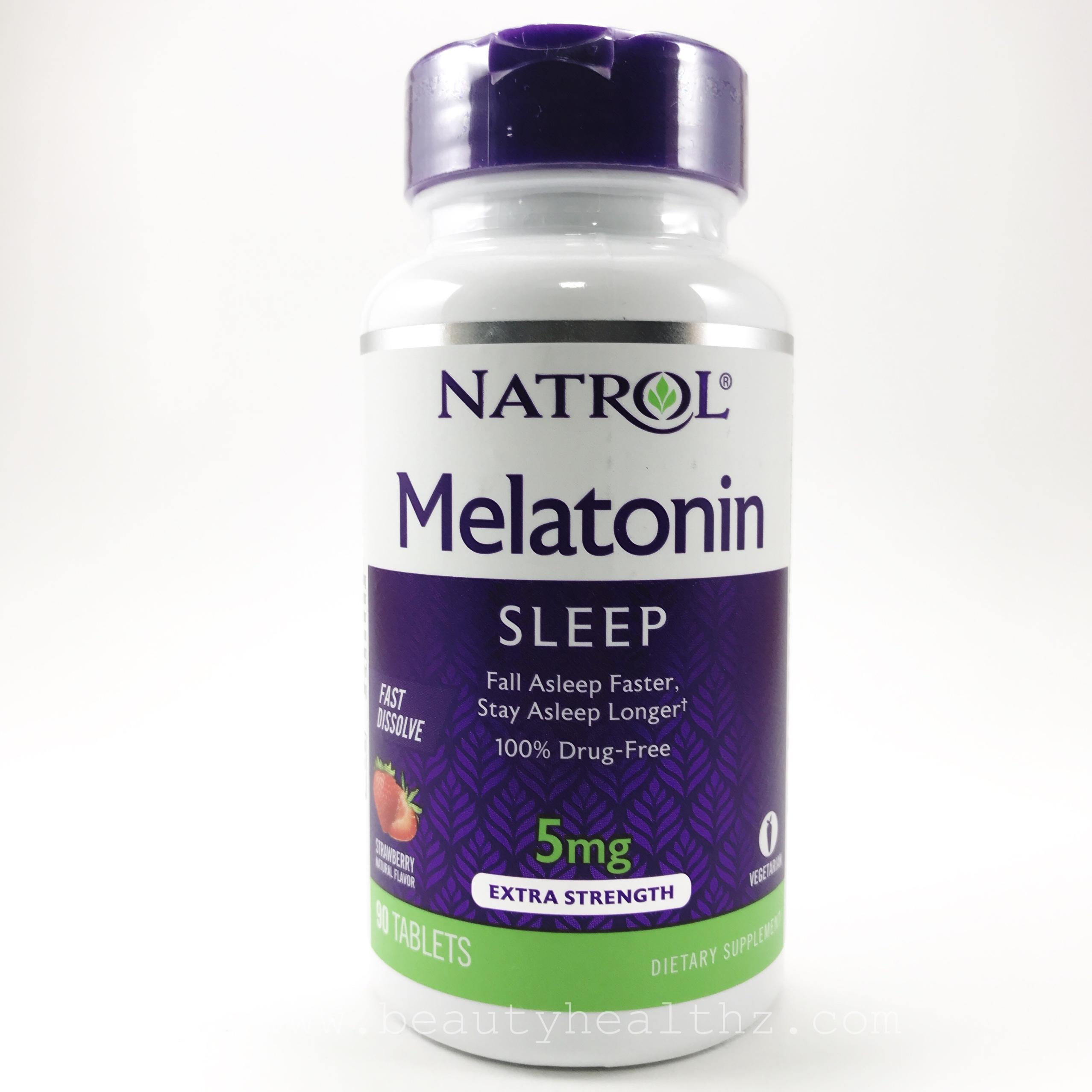 Natrol, Melatonin, Fast Dissolve, Strawberry, 5 mg, 90 Tablets