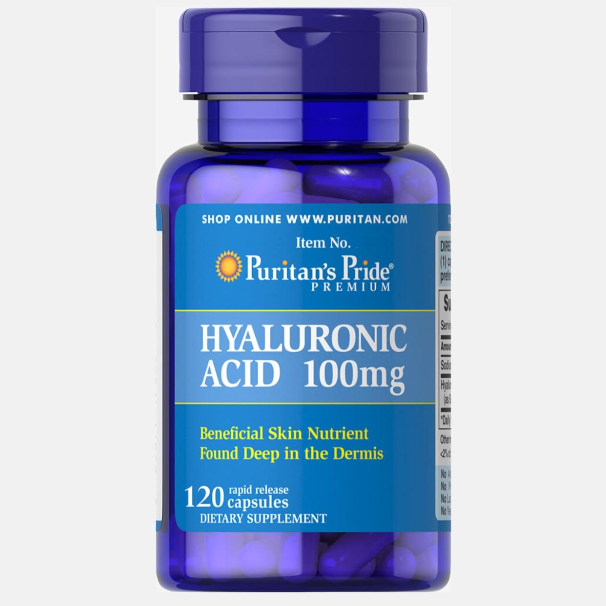 Puritan's Pride, Hyaluronic Acid 100 mg, 120 Capsules
