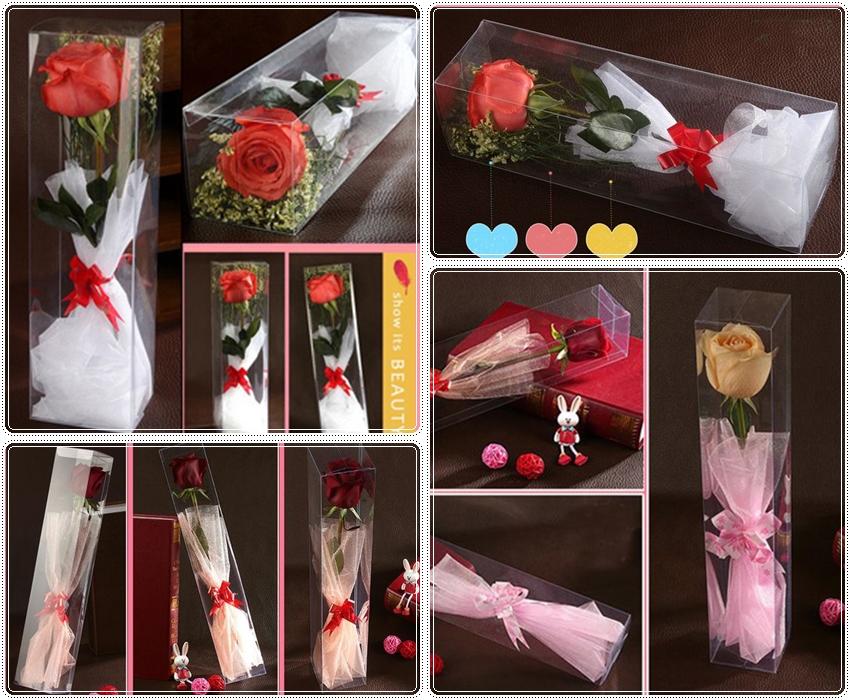 กล่องพลาสติกใส่ดอกไม้