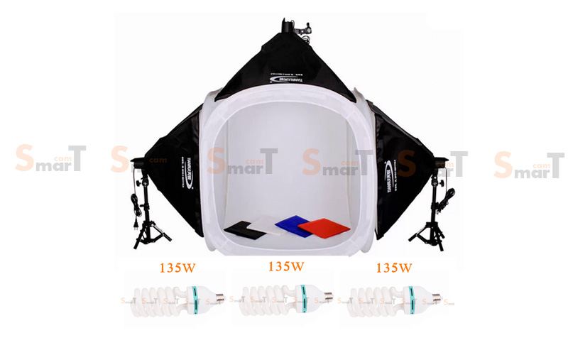 Light Set ชุดเต้นท์ถ่ายภาพพร้อมหลอด Photo Light Tent Kit with 135W Daylight