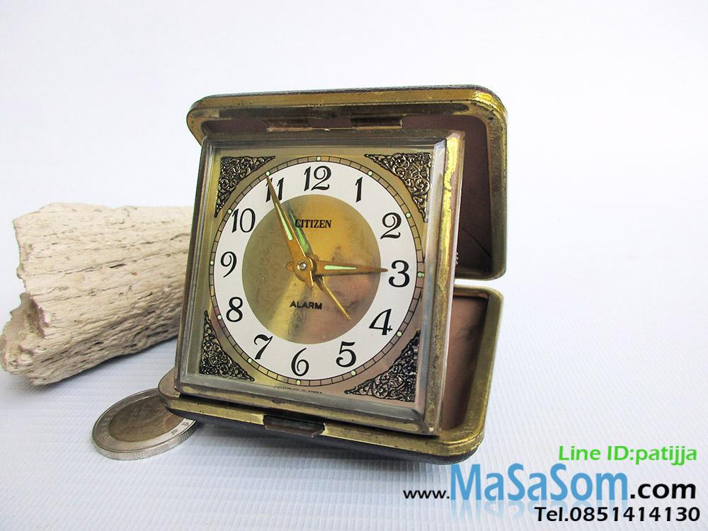 นาฬิกาปลุกไขลานแบบพับ Citizen
