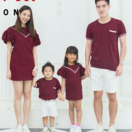 เสื้อครอบครัว ชุดครอบครัว พ่อ แม่ ลูก Balloon pop Set