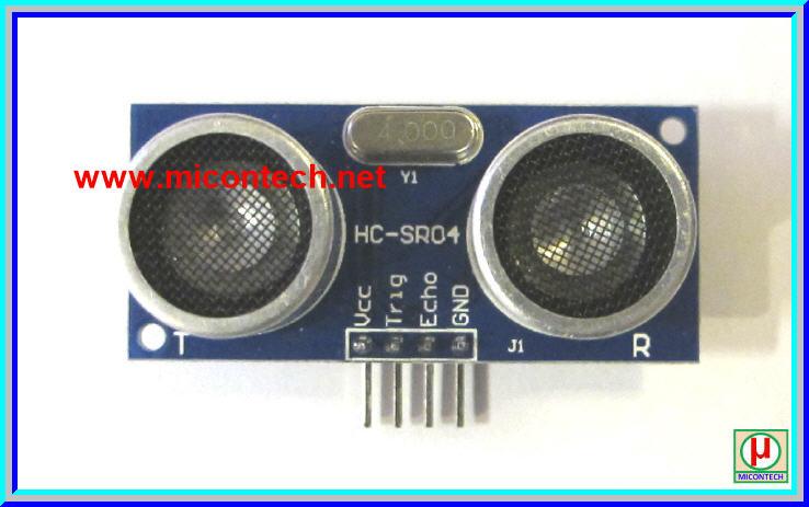 1x บอร์ด HC-SR04 เซ็นเซอร์อัลตราโซนิคตรวจวัดระยะ (Ultrasonic distance sensor module)