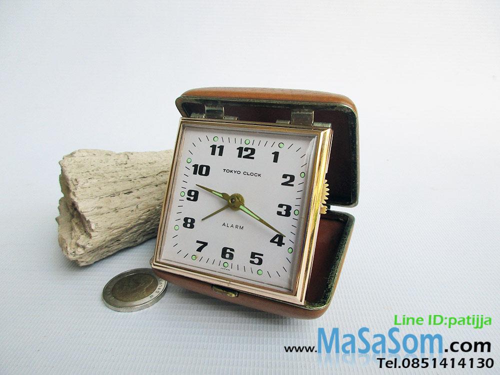 นาฬิกาปลุกไขลานแบบพับ Tokyo Clock