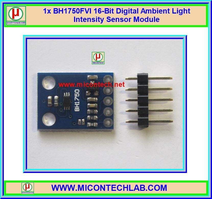 1x BH1750FVI 16-Bit Digital Ambient Light Intensity Sensor Module