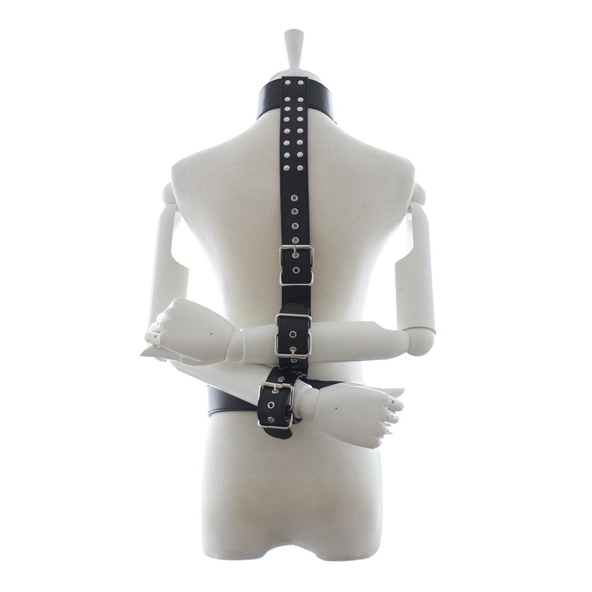 Pre Order / ของเล่นสนุกทางเลือกที่ผูกแขนบังคับใช้กับสายรัดด้านหลังใส่กุญแจมือทาส