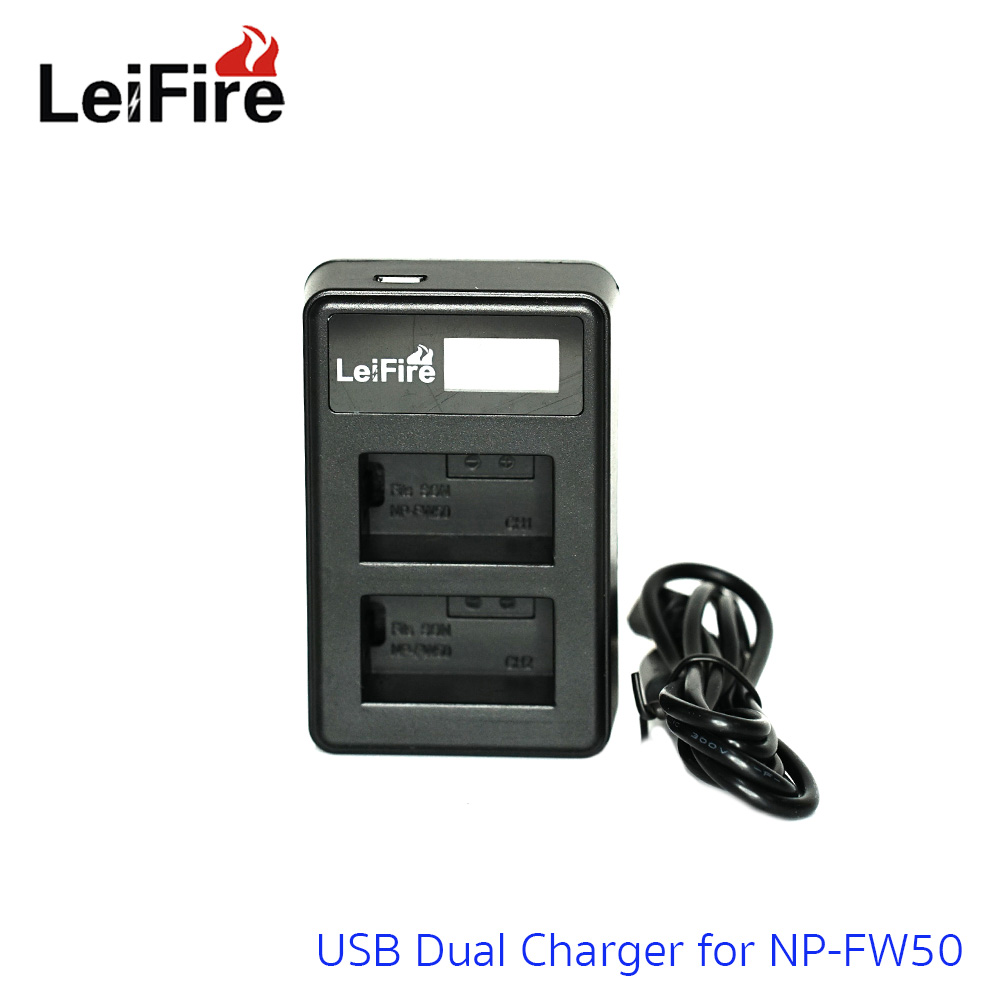 Battery Charger LeiFire Dual USB For Sony NP-FW50