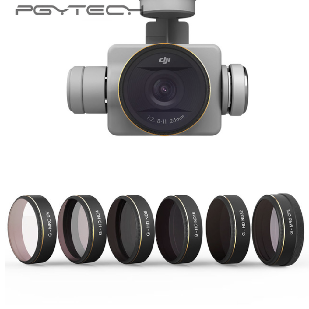 PGYTECH 6pcs/set UV/CPL/ND4/8/16/32 Graduated HD Lens Filters for Phantom 4 PRO