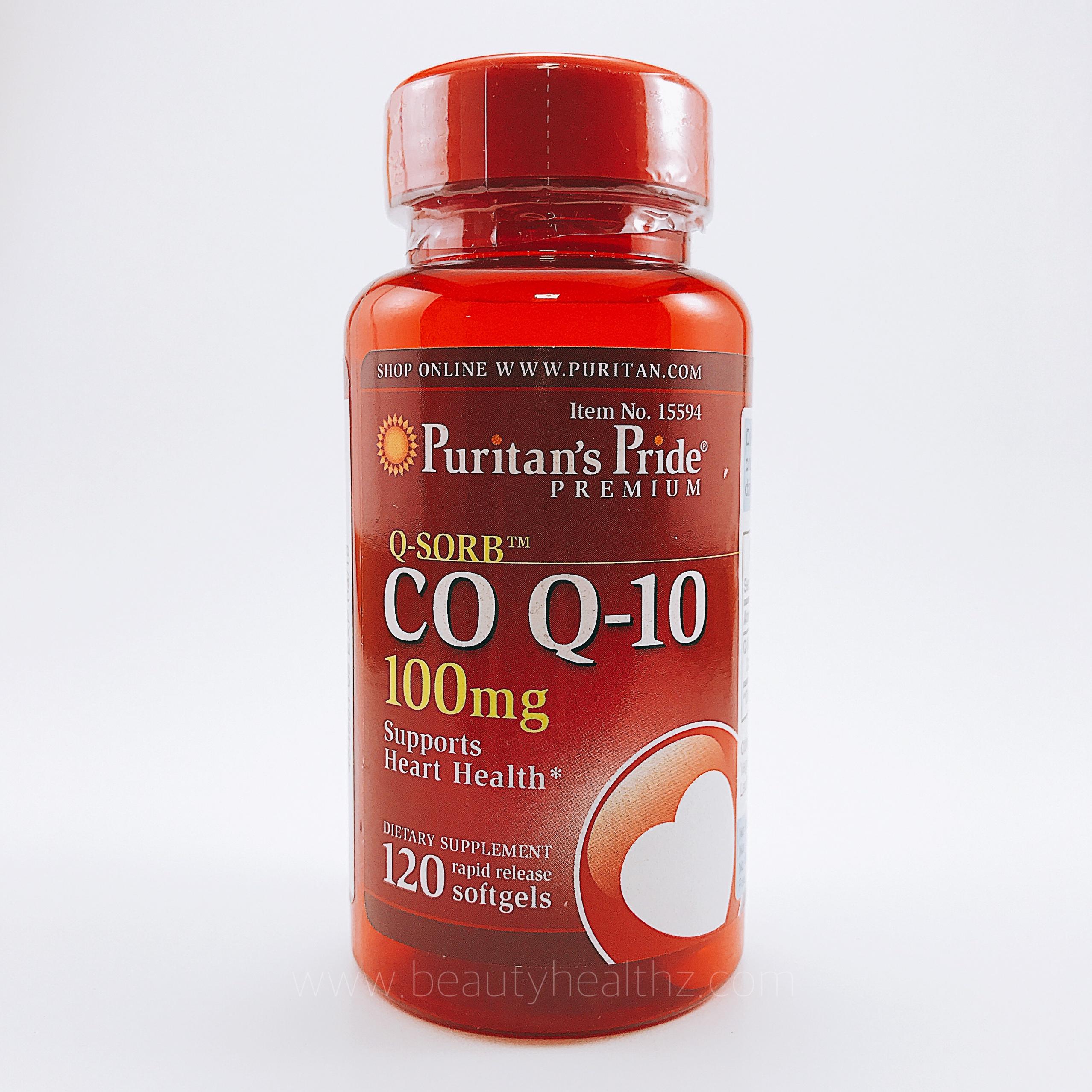 Puritan's Pride, Q-SORB™ Co Q-10 100 mg, 120 Rapid Release Softgels