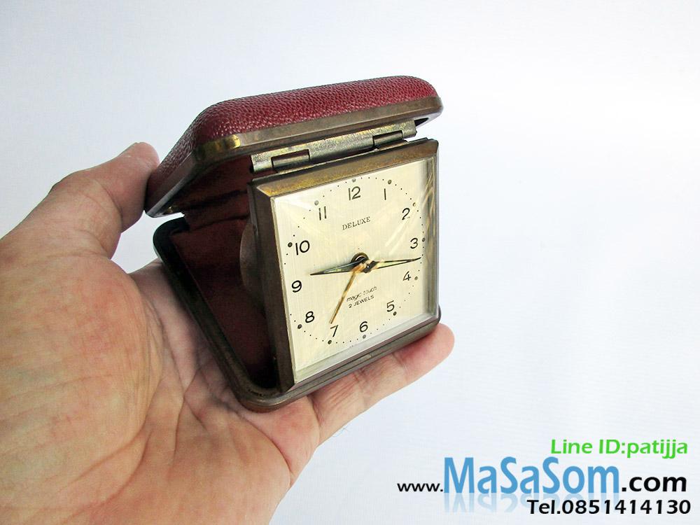 นาฬิกาปลุกไขลานแบบพับ Deluxe