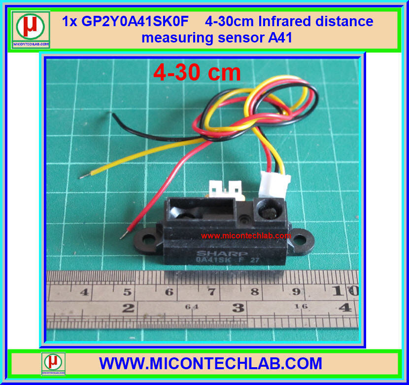 1x GP2Y0A41SK0F (A41) 4-30cm Infrared distance measuring sensor SHARP