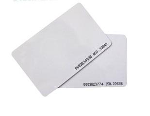 บัตรคีย์การ์ดแบบบาง .8mm No. Run