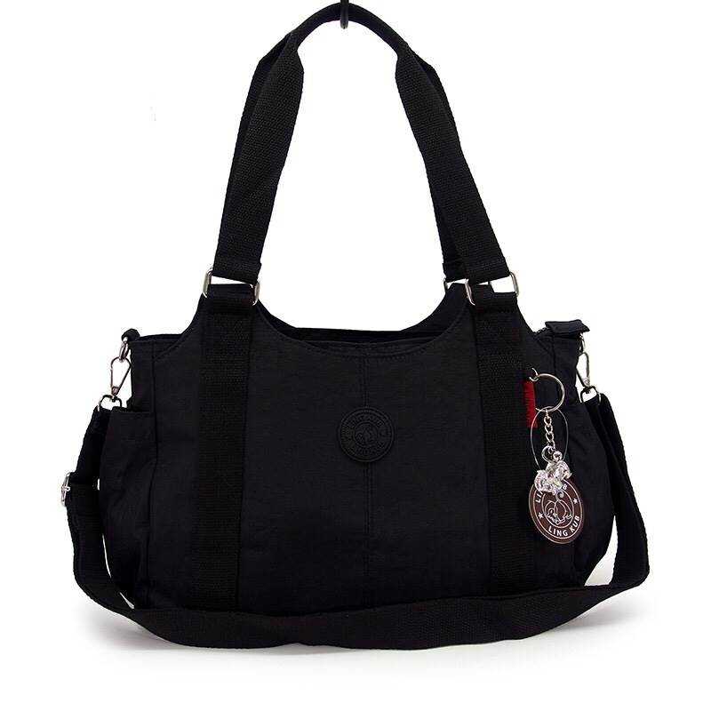 กระเป๋าถือ + สายสะพาย สีดำ