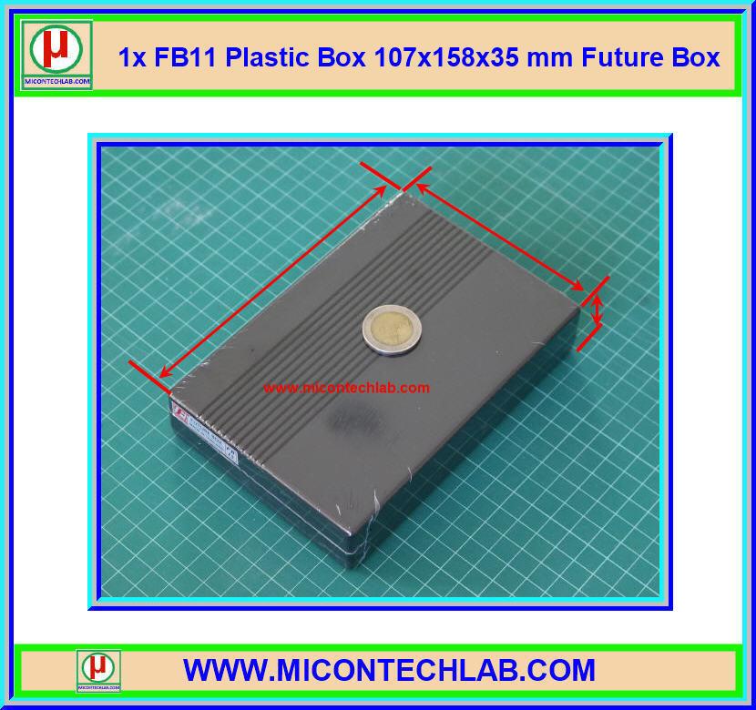 1x FB15 Plastic Box 107x158x35 mm Future Box