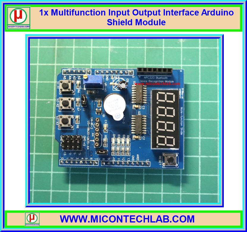 1x Multifunction Input Output Interface Arduino Shield Module