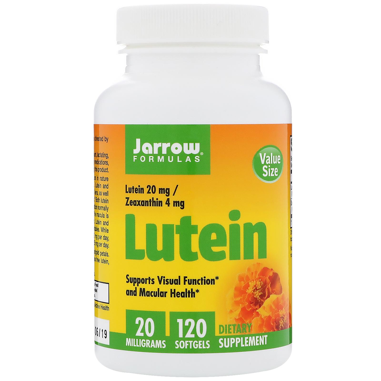 Jarrow Formulas, Lutein, 20 mg, 120 Softgels