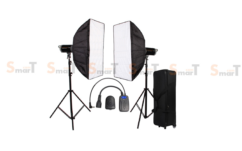 Light Set with CD 400W X2 Professional Flash SUPERFLASH Studio Kit ชุดแฟลชสตูดิโอ