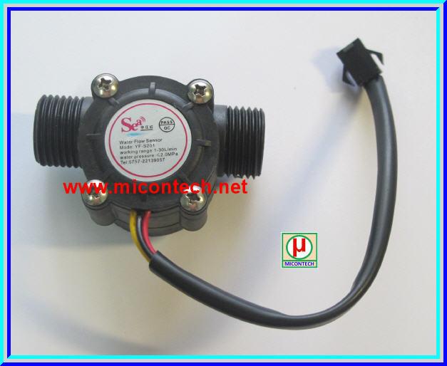 1x เซ็นเซอร์วัดอัตราการไหลน้ำ YF-S201 (Water flow sensor YF-S201)
