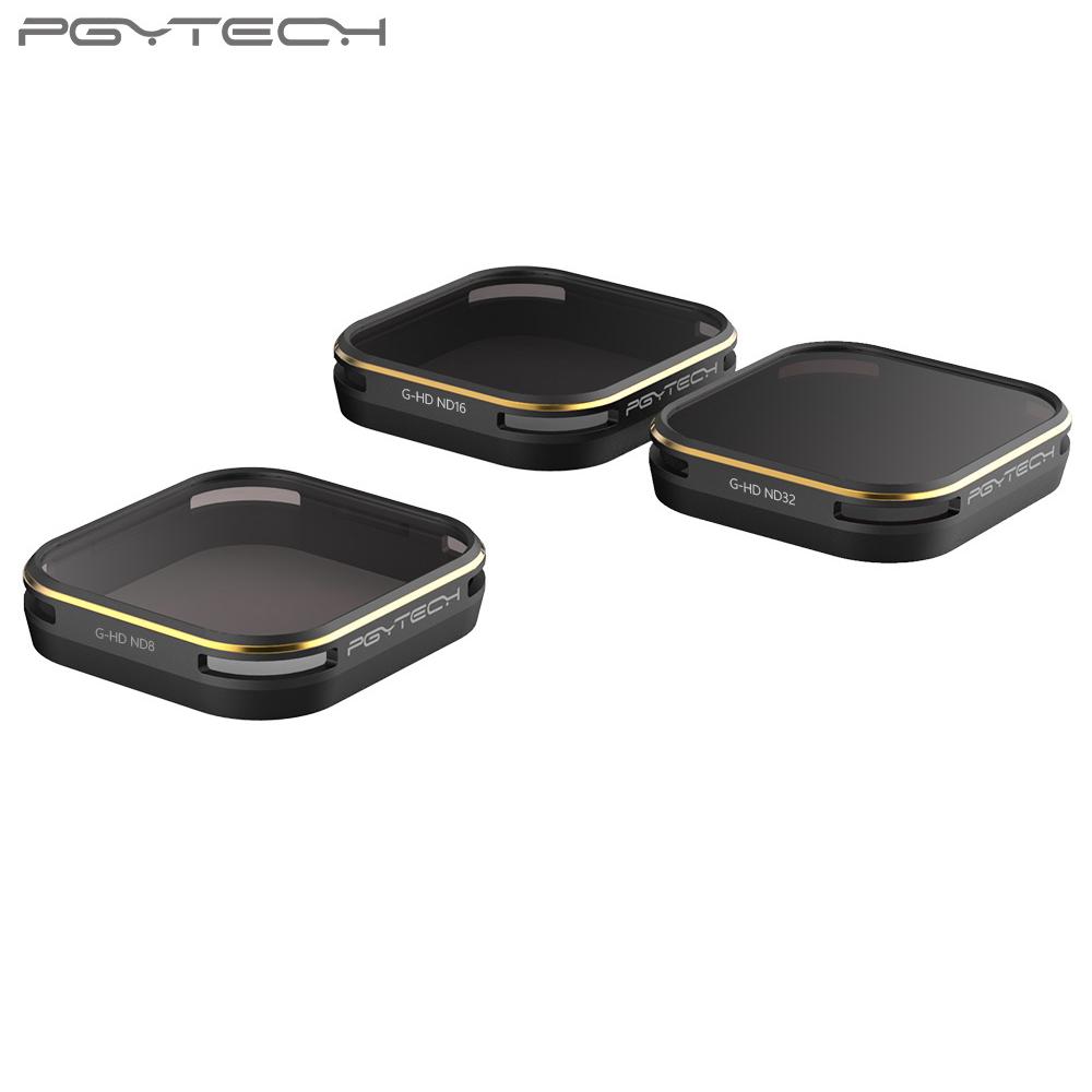 PGYTECH GoPro5 Waterproof HD ND8 ND16 ND32 Neutral Density Gold edge lens filter series