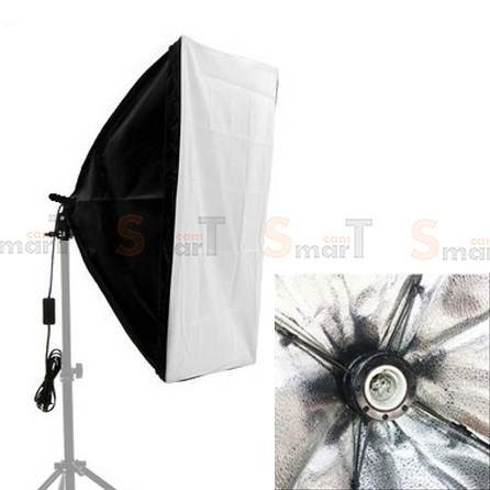 Continuous Lighting E27 One Bulb Holder With Softbox 50x70cm