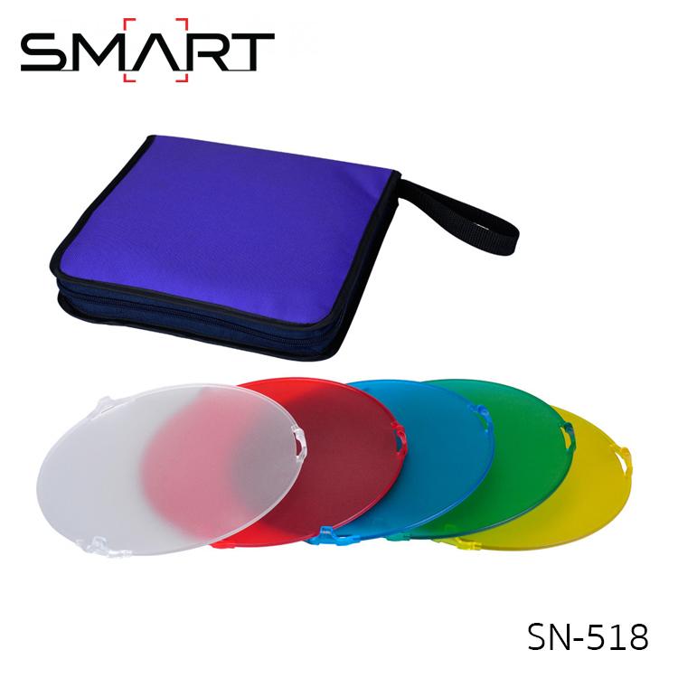 SMART SN-518 Flash Color Filter Gel Set for Studio Strobe Standard Reflector
