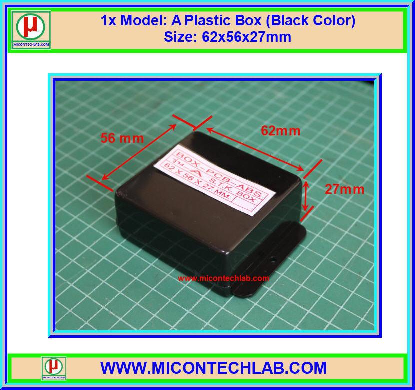 1x กล่องพลาสติกสีดำ A ขนาด 62x56x27 มม. (ฺBox) (M)