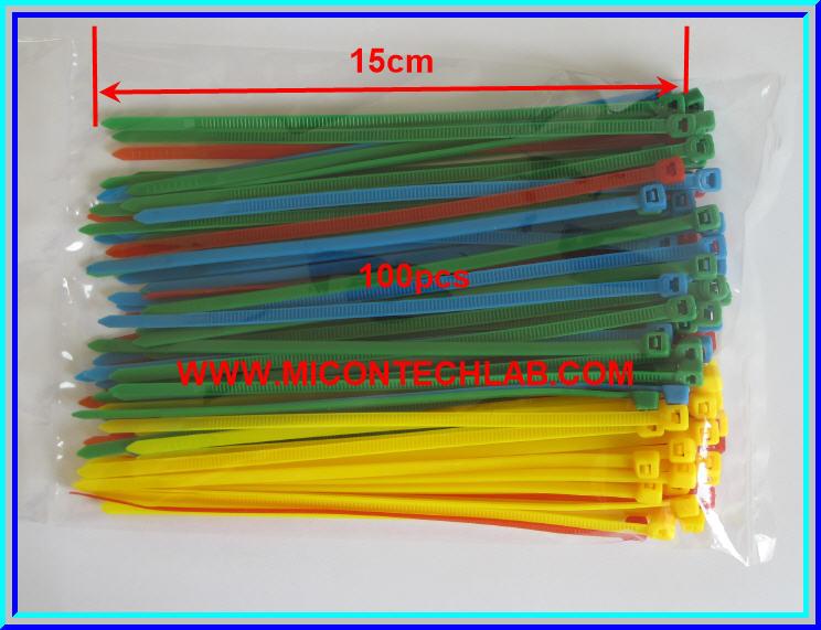 1x Cable Tie 15cm 100pcs 4 colors