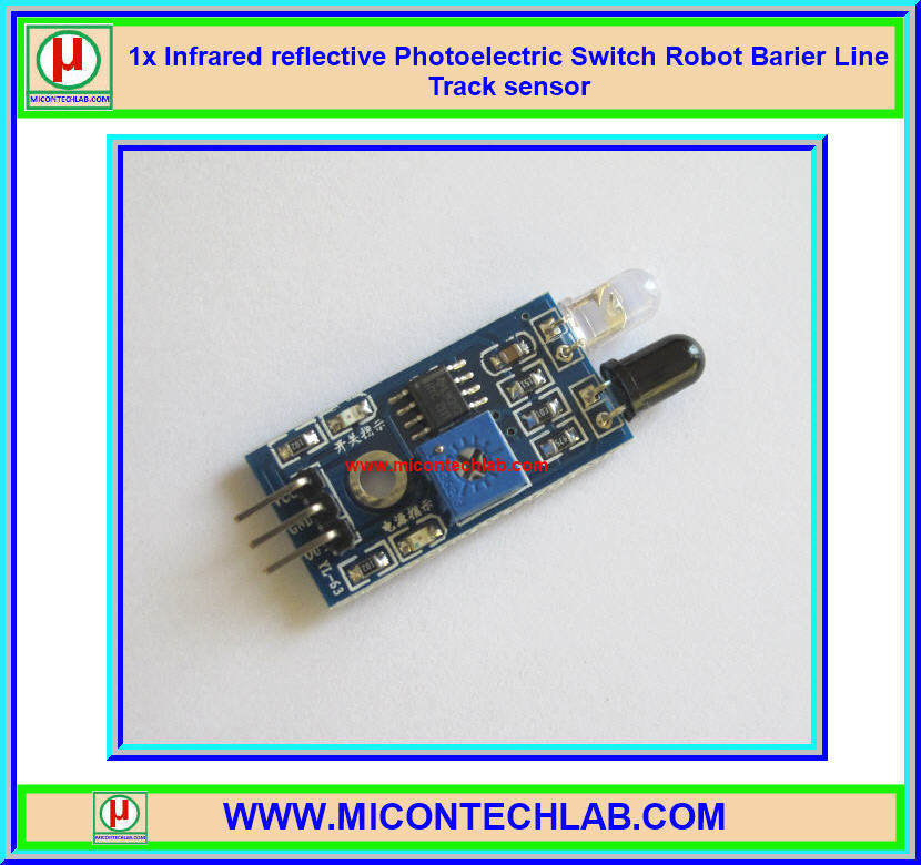 1x Infrared reflective Photoelectric Switch Robot Barier Line Track sensor