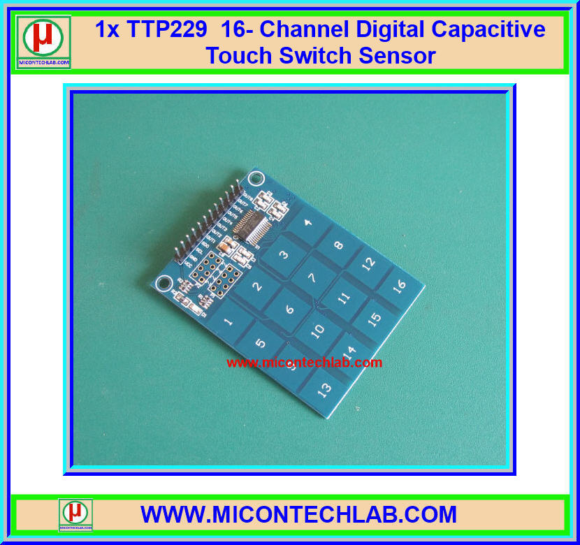 1x TTP229 16 Channel Digital Capacitive Touch Switch Sensor