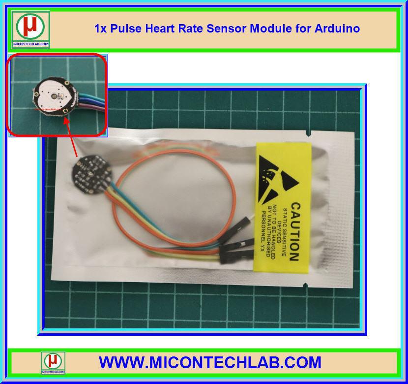 1x เซ็นเซอร์วัดอัตราการเต้น ชีพจร หัวใจ (Pulse Heart Rate Heartbeat Sensor)