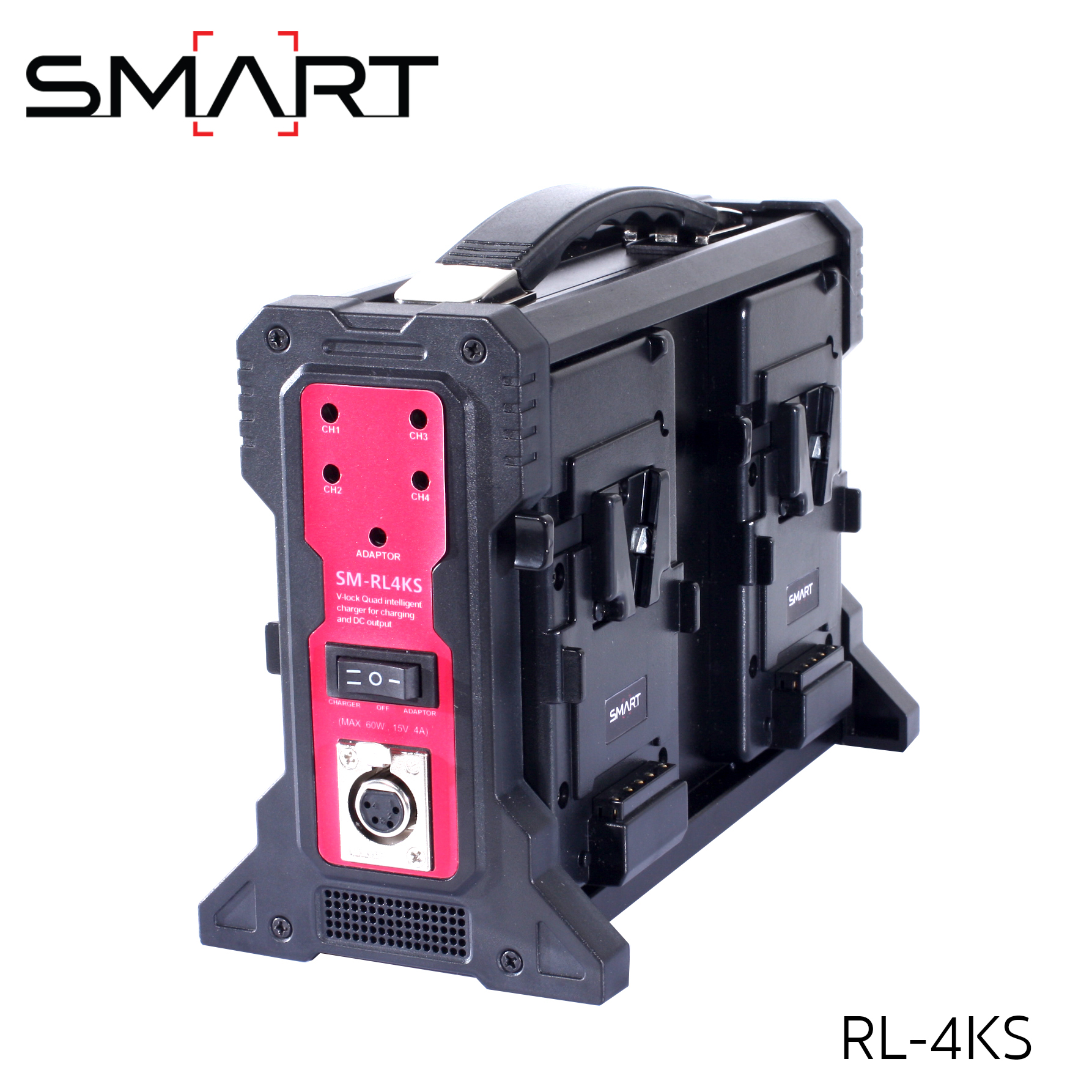 SMART RL-4KS 4x Charger for V-Mount Battery สำเนา