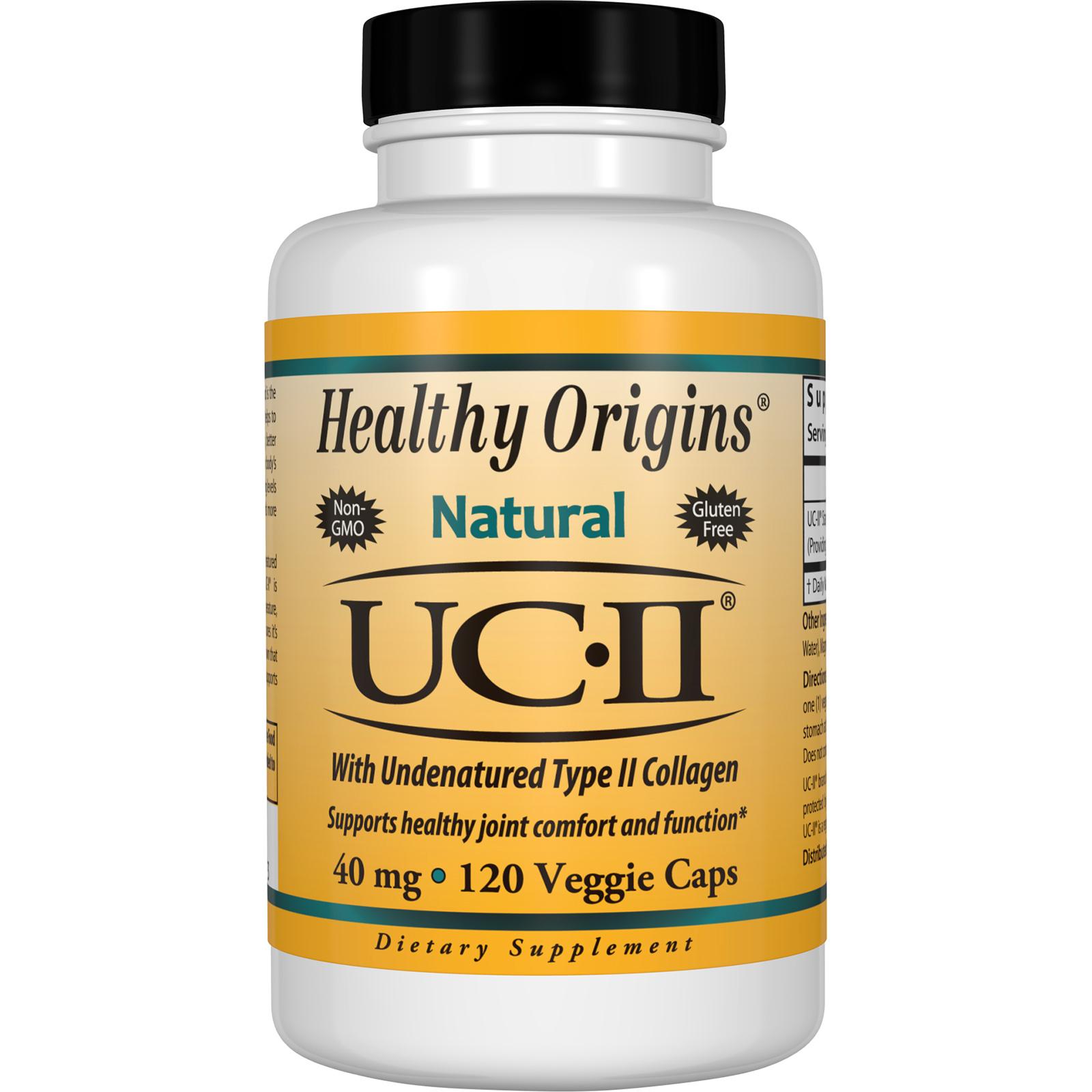 Healthy Origins, Natural, UC-II with Undenatured Type II Collagen, 40 mg, 120 Veggie Caps