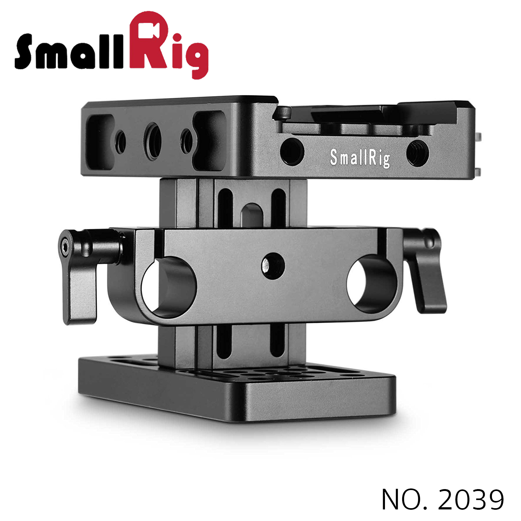SMALLRIG® Baseplate (Manfrotto) with 15mm Rail Support System 2039