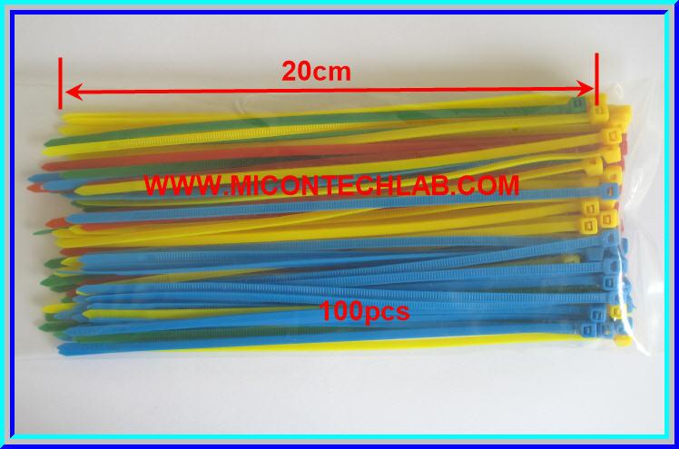 1x Cable Tie 20cm 100pcs 4 colors