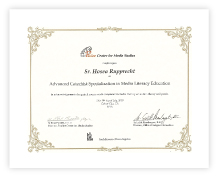 ใบประกาศ เกียรติบัตร Certificate