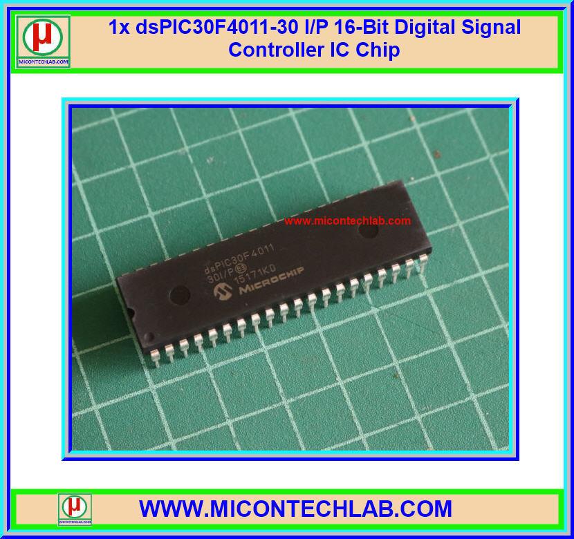 1x dsPIC30F4011-30 I/P 16-Bit Digital Signal Controller IC Chip