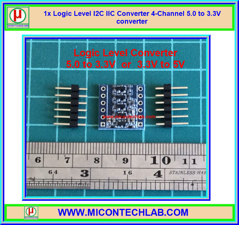 1x Logic Level I2C IIC Converter 4-Channel 5.0 to 3.3V converter