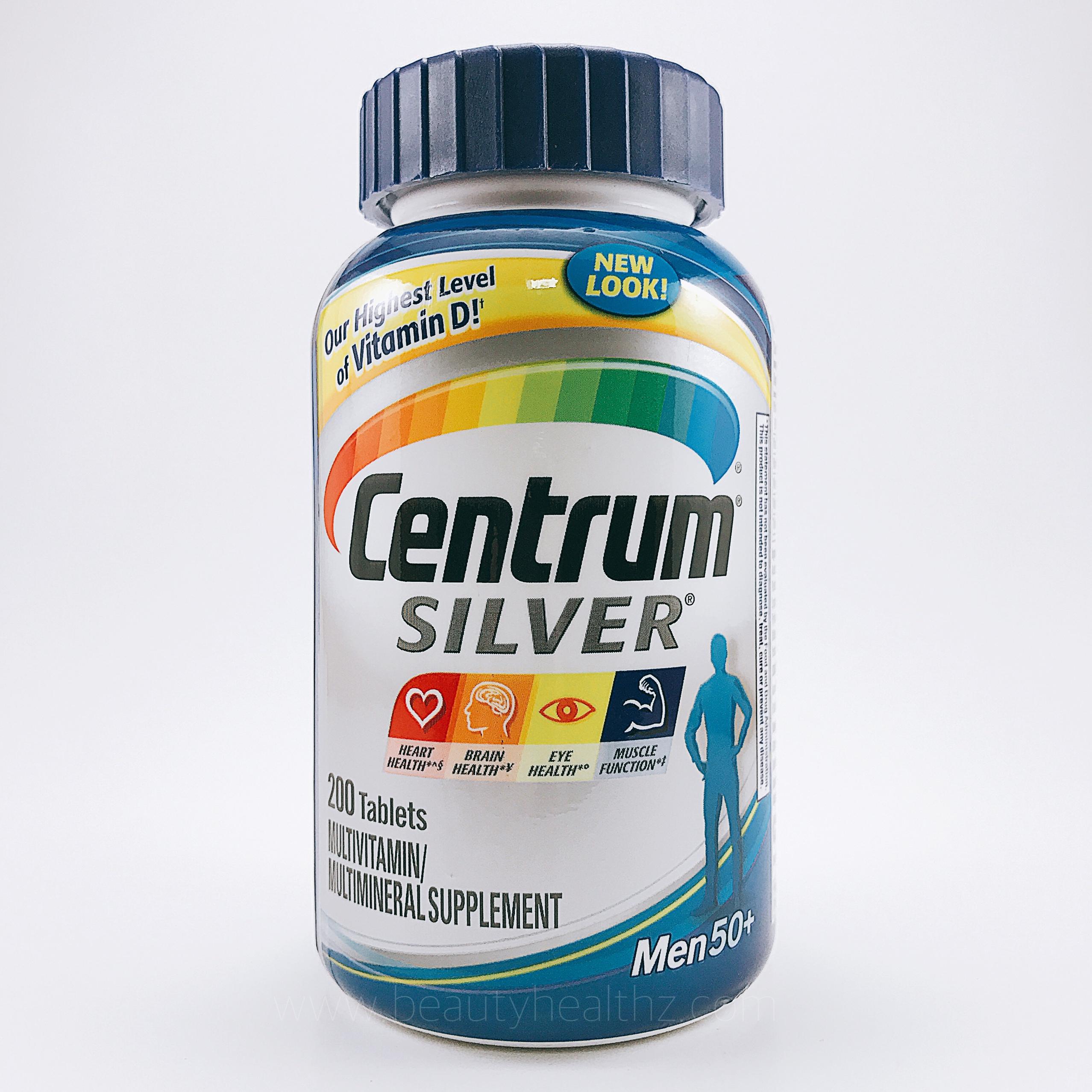 Centrum Silver, Men 50+ Multivitamin Multimineral Supplement, 200 Tablets