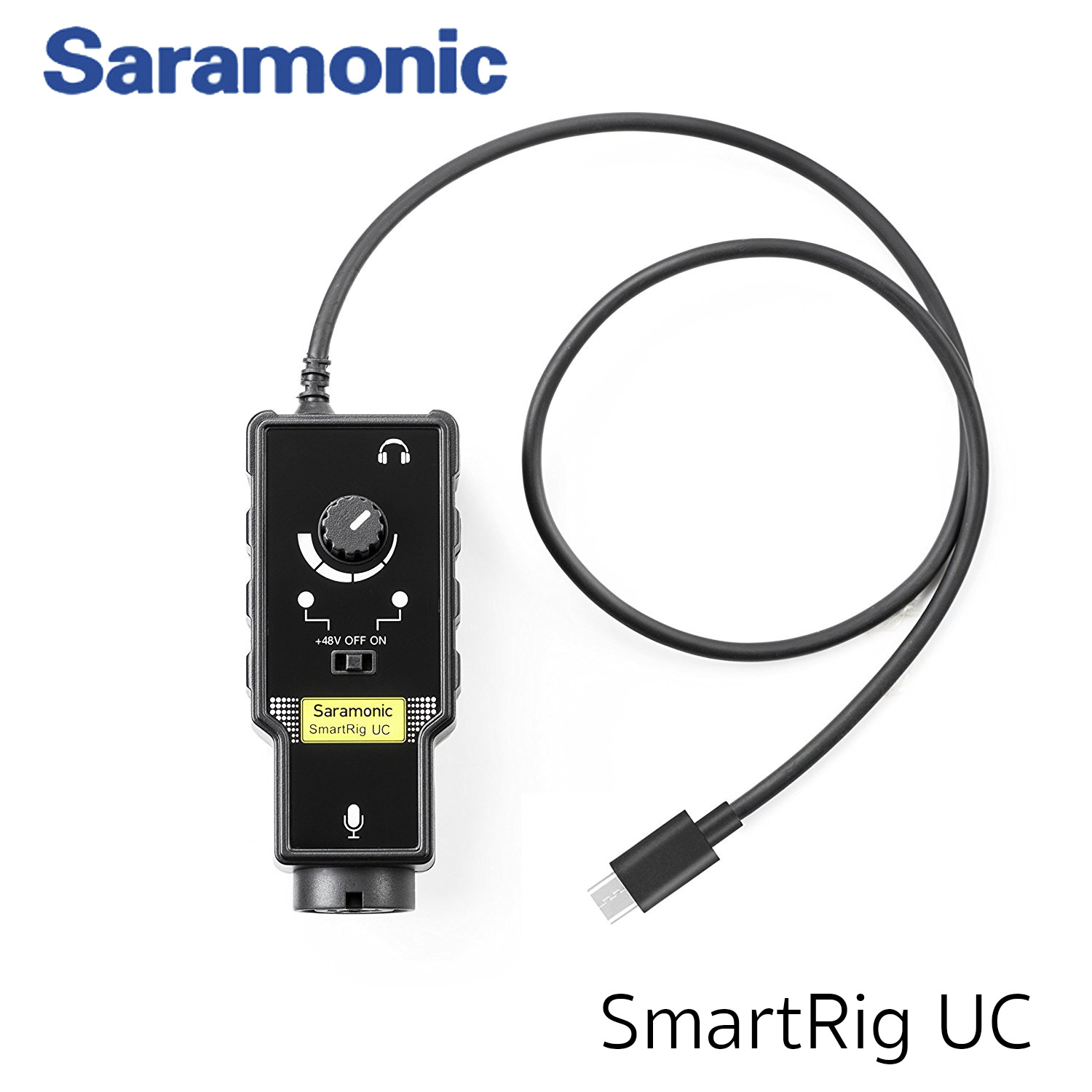 Saramonic SmartRig UC XLR/Type-C Microphone Audio Mixer with Phantom Power Preamp & Guitar Interface for Type-C devices