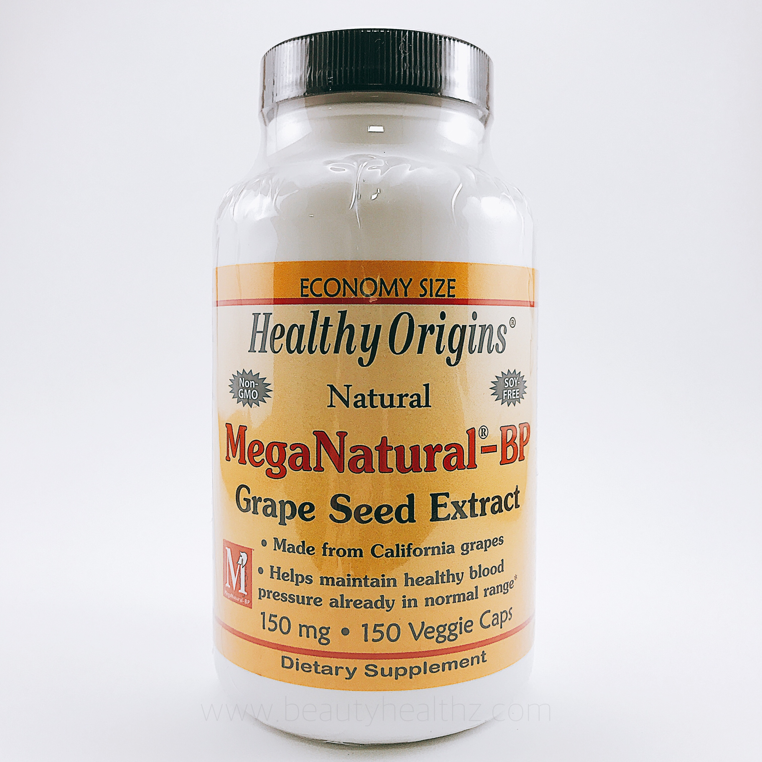 Healthy Origins, MegaNatural-BP Grape Seed Extract, 150 mg, 150 Veggie Caps