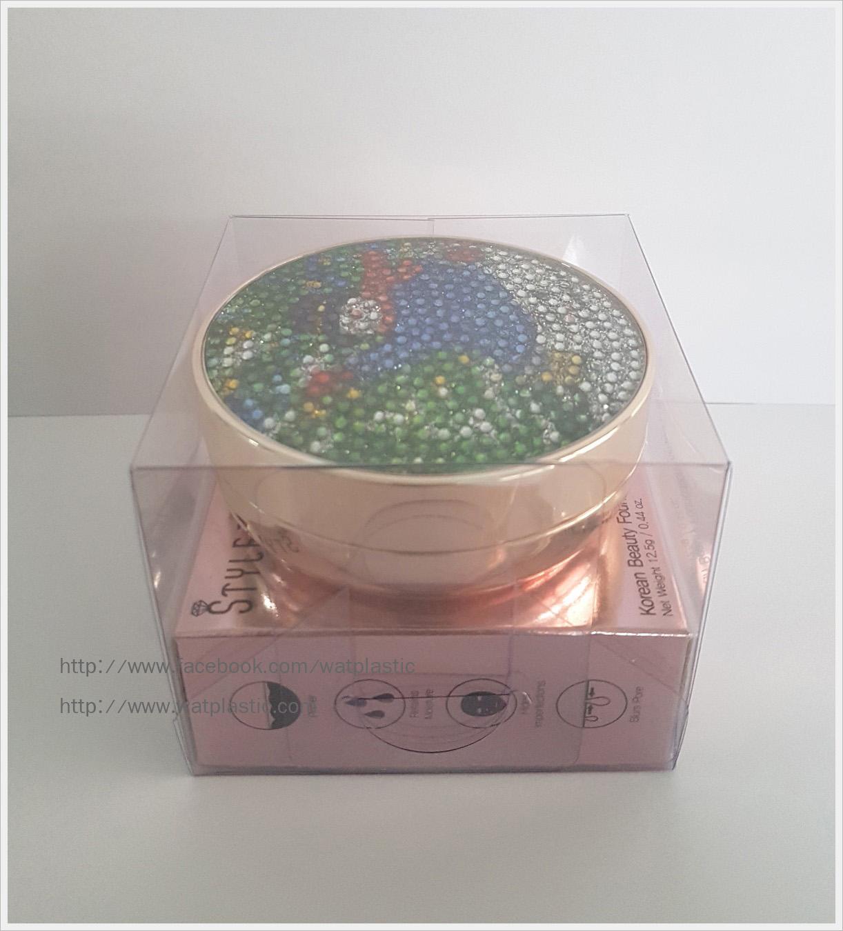 กล่อง ตลับครีม/กระปุกครีม ขนาด 8.3 x 8.3 x 6.7 cm