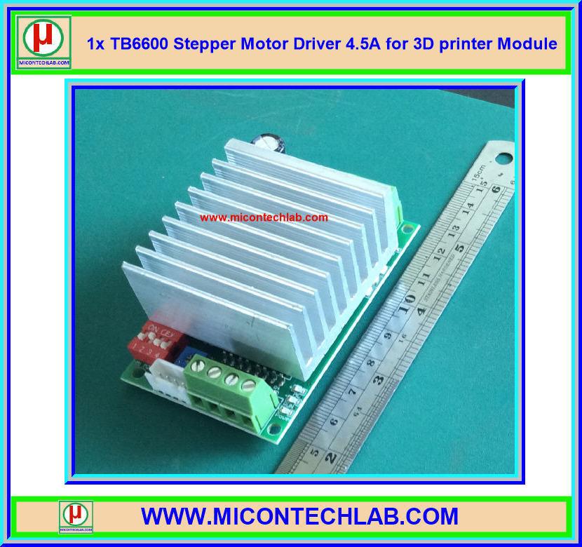1x TB6600 Stepper Motor Driver 4.5A for 3D printer CNC Control