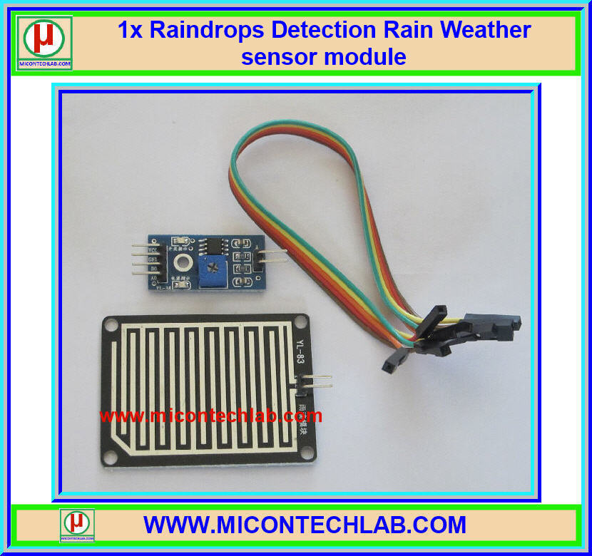 1x Raindrops Detection Rain Weather sensor module