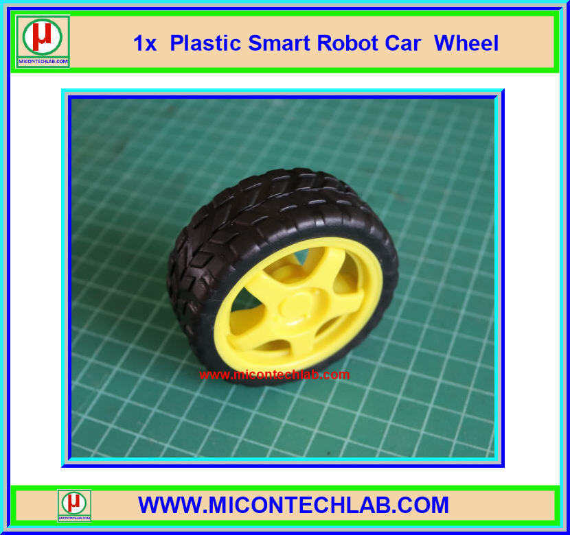1x Plastic Smart Robot Car Wheel (ล้อรถ)