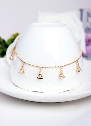 New personalized fashion geometric triangle mosaic zircon diamond