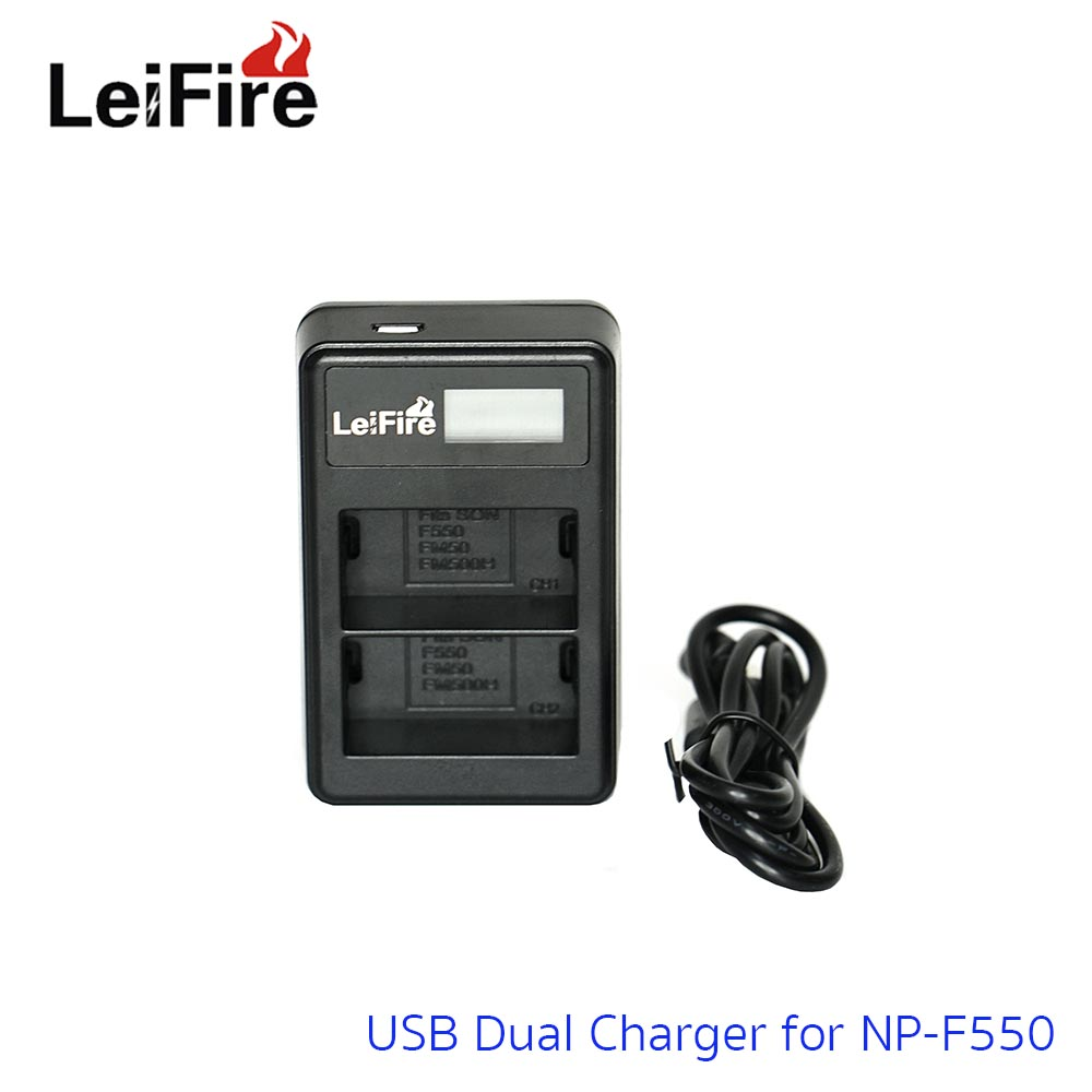 Battery Charger LeiFire Dual USB For Sony NP-F550