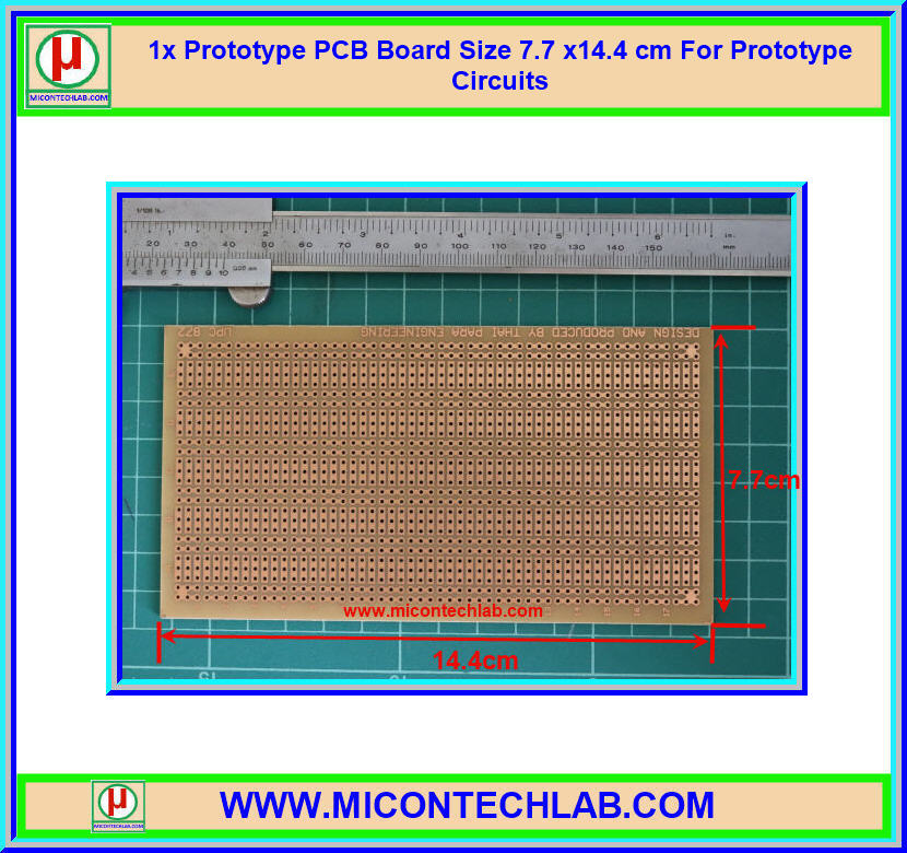 1x Prototype PCB Board Size 7.7 x14.4 cm For Prototype Circuits